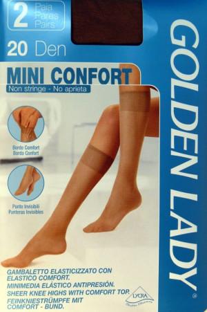 Dámské podkolenky |Golden Lady| Mini Confort 20 den A`2 odstín béžové 3/4-M/L