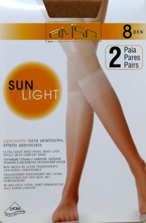 Dámské podkolenky Omsa| Sun Light 8 den A`2 odstín béžové univerzální