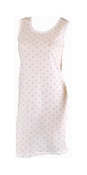 Dámská dlouhá spodnička Gucio 3XL-4XL bílá-květy 3XL