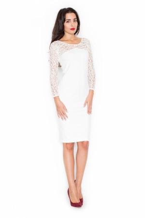 Dámské šaty K322 ecru