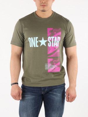Tričko Converse M One Star Photo Short Slv Tee Zelená
