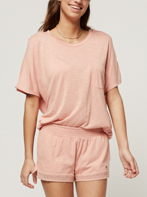 Tričko O´Neill Lw Essentials Drapey T-Shirt Oranžová