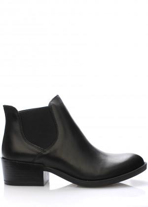 V&C Calzature Černé italské kožené boty pérka V&C