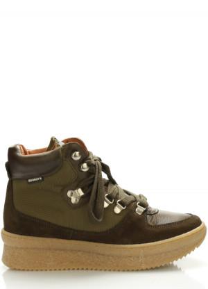 Tmavě zelené kožené boty Roobins