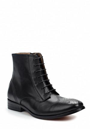 Laceys london Černé kožené šněrovací boty se zipem Laceys