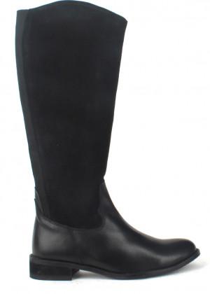 Laceys london Černé kožené kozačky s elastickou částí Laceys