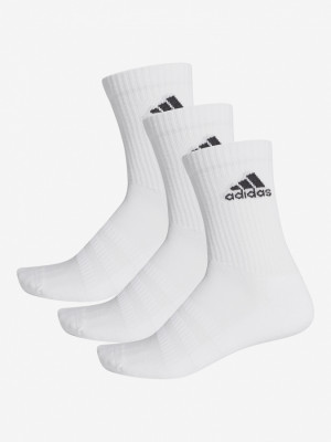 Ponožky adidas Performance Cush Crw 3 Pack Bílá