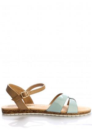 Zelené korkové letní sandálky MARIA MARE
