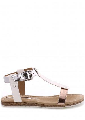 Bílé korkové letní sandálky MARIA MARE