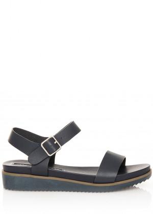 Tmavě modré sandálky na klínku MARIA MARE