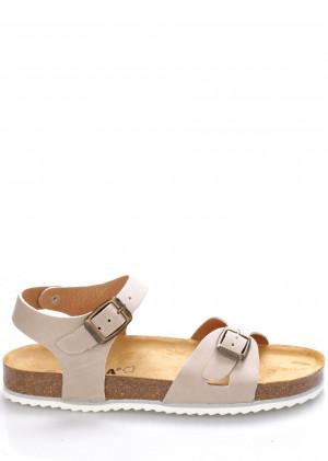 Béžové kožené zdravotní sandály EMMA Shoes