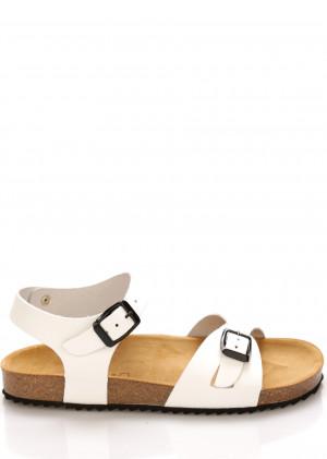 Bílé kožené zdravotní sandály EMMA Shoes
