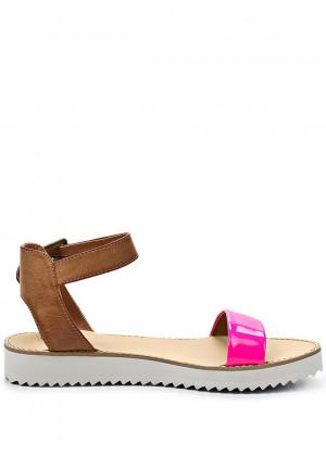 Qube Páskové růžové sandály na platformě Timeless Quing