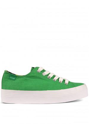 Zelené tenisky s vysokou podrážkou MTNG