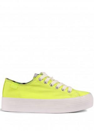 Žluté tenisky s vysokou podrážkou MTNG