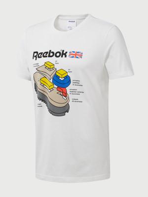 Tričko Reebok Classic Cl Callout Graphic Tee Bílá