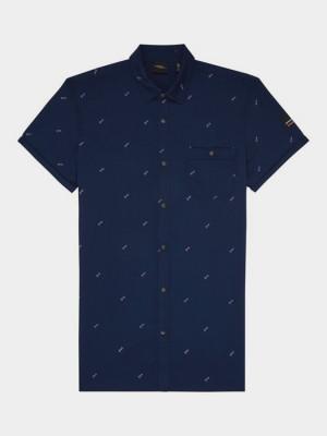 Košile O´Neill Lm Allover Summer S/Slv Shirt Modrá