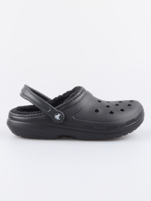 Sandály Crocs Classic Lined Clog - Black/Black Černá