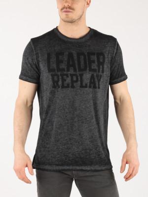 Tričko Replay M3647 T-Shirt Černá