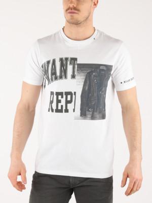 Tričko Replay M3632 T-Shirt Bílá