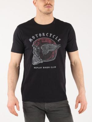 Tričko Replay M3617 T-Shirt Černá