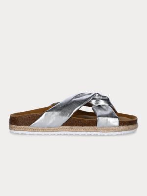 Pantofle Paez Sandal Knot Silver Stříbrná