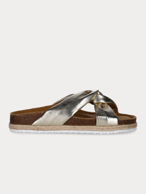 Pantofle Paez Sandal Knot Gold Silver Stříbrná