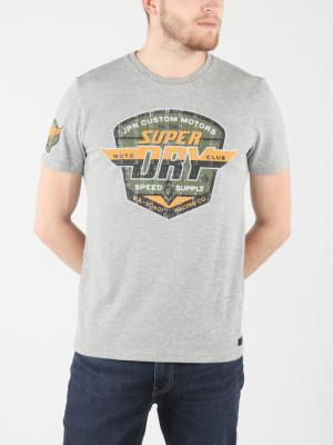 Tričko Superdry Custom Tin Tab Tee Šedá
