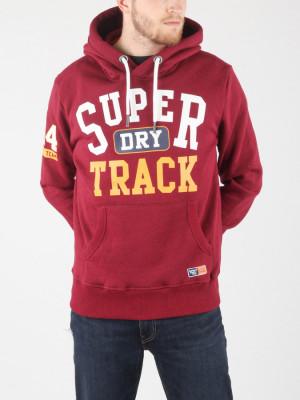 Mikina Superdry Track & Field Hood Červená