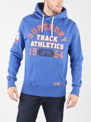 Mikina Superdry Track & Field Hood Modrá