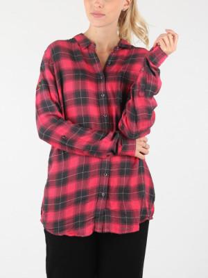 Košile Superdry Maya Supersize Shirt Červená