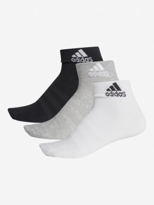 Ponožky adidas Performance Light Ank 3 Pack Barevná