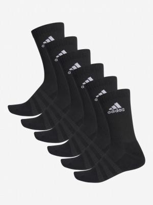 Ponožky adidas Performance Cush Crw 6 Pack Černá