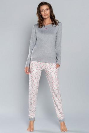Italian Fashion Lena dl.r. dl.k. Dámské pyžamo L melanž