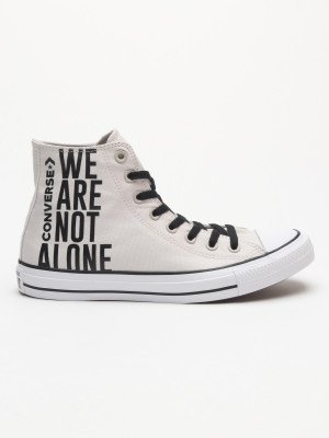 Boty Converse Chuck Taylor All Star We Are Not Alone Šedá