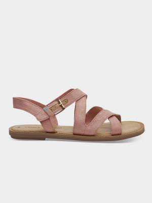 Sandály Toms Crl Pnk Shimmer Canv Wm Sicily Sand Růžová