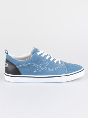 Boty Trussardi Sneakers Denim/Synthetic Leather Stitching Logo Modrá