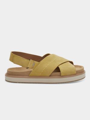 Sandály Toms Electric Yelow Nubuc Wm Marisa Sand Žlutá