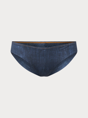 Spodek plavek O´Neill Pw Maoi Denim Print Bottom Modrá