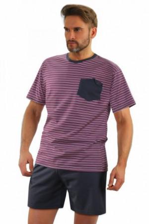 Sesto Senso model 05 K67E Pánské pyžamo XXL grafitovo-růžová
