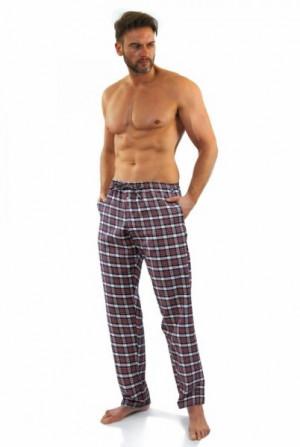 Sesto Senso Milo vzor č. 1 Pyžamové kalhoty XXL bílo-červená