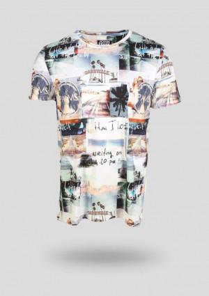 Pánské tričko John Frank JFTD19 L Dle obrázku
