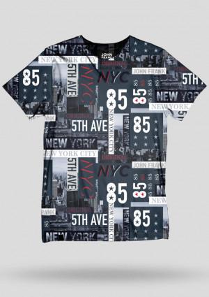 Pánské tričko John Frank JFTD42 L Dle obrázku