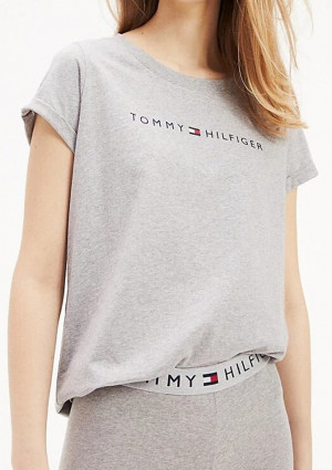 Dámské tričko Tommy Hilfiger UW0UW01618 L Sv. šedá