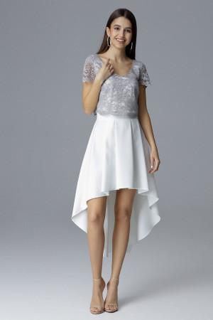Dámské šaty - set M641 - Figl  šedá-smetanová