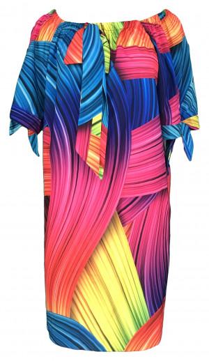 Dámské šaty G - Taffi modrá s oranžovou uni