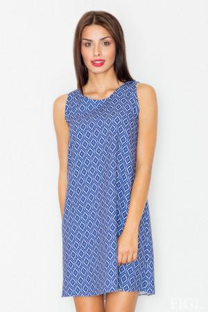 Dámské šaty M518 - Figl  modro-bílá S-36