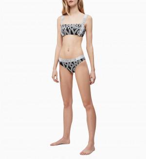 Spodní díl plavek KW0KW00820-0GS černobílá - Calvin Klein černo-bílá
