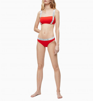 Spodní díl plavek KW0KW00821-XA7 červená - Calvin Klein červená