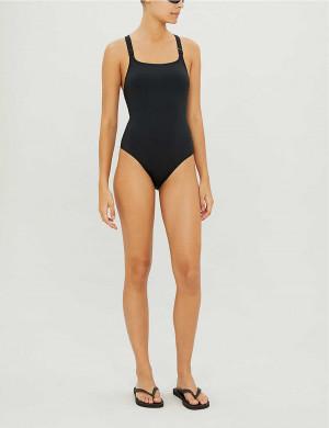 Jednodílné plavky KW0KW00806-BEH černá - Calvin Klein černá